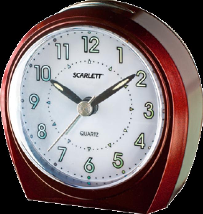 Будильник Scarlett SC 840 бургунди