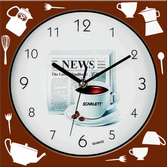 Часы настенные Scarlett SC-WC1001K