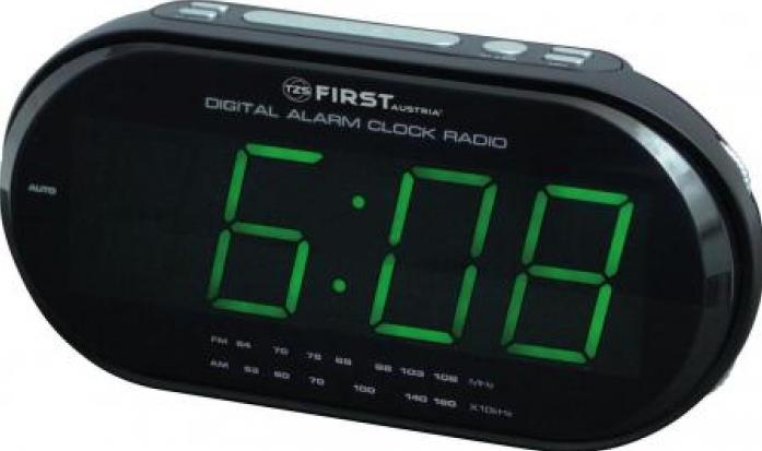 Радиочасы First FA-2409-1-RF Black