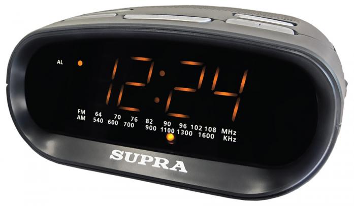 Радиочасы Supra SA-32FM black/amber