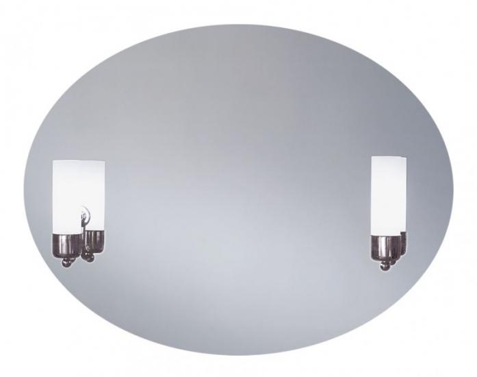 Зеркало интерьерное Lustro Caso (овал, с подсветкой, 80x60)