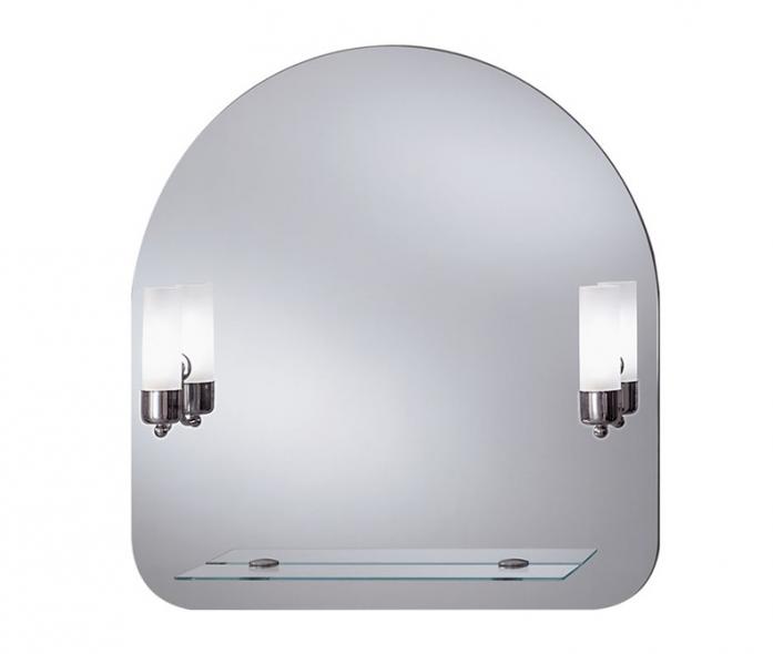 Зеркало интерьерное Lustro Gaja (подсветка+полка, 70х73)