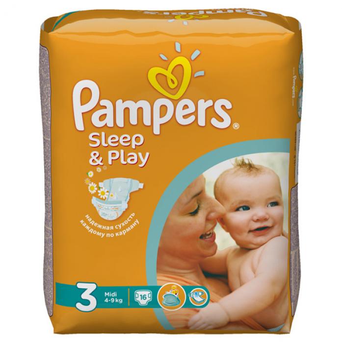 Подгузники Pampers Sleep&Play 4-9кг 58шт Midi 3