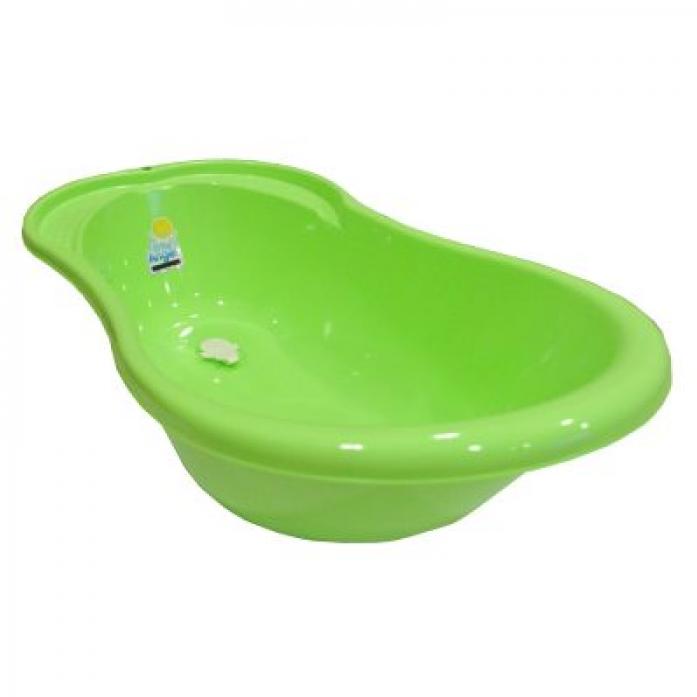 Ванночка Пластик-центр Ангел со сливом и термометром салатовый 84 см LA4101