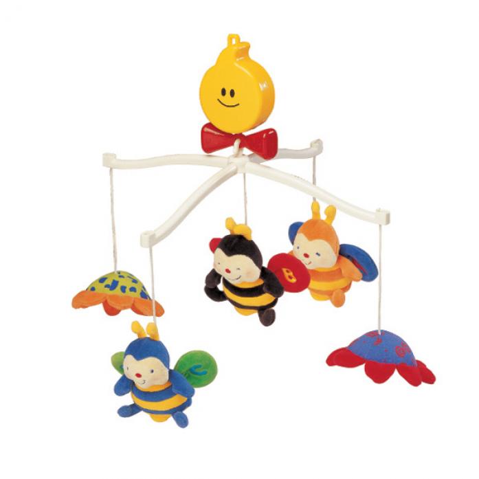 Крутящиеся музыкальные игрушки K's Kids Пчелки KA322