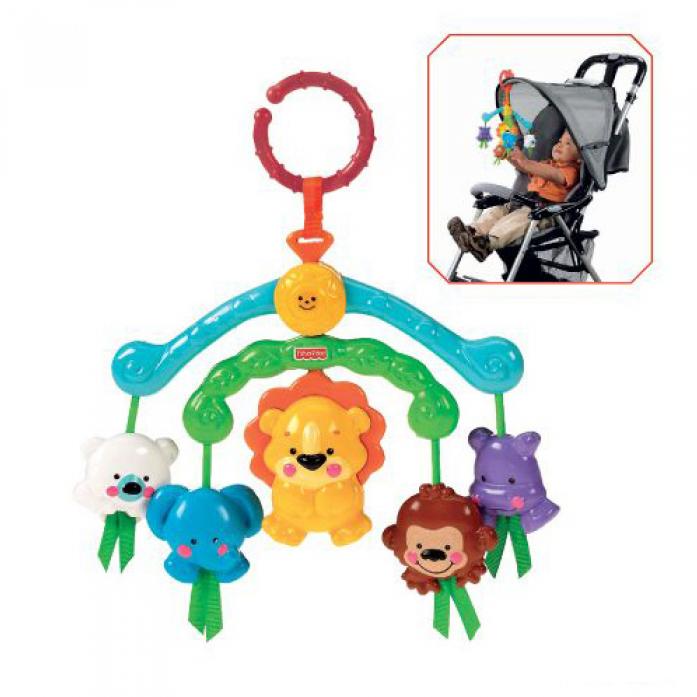 Мобиль Fisher-Price для коляски Веселые зверята R9681