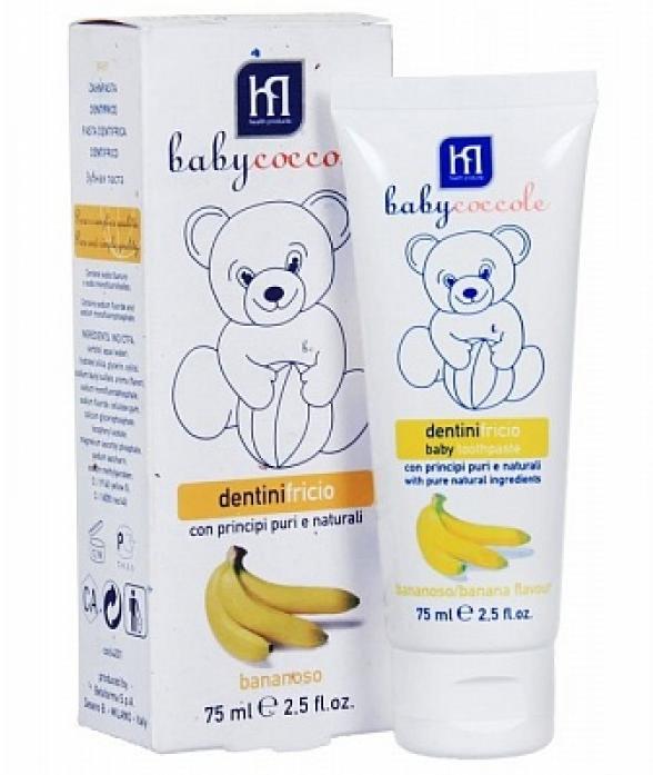 Детская зубная паста Babycoccole со вкусом банана 75мл 4201