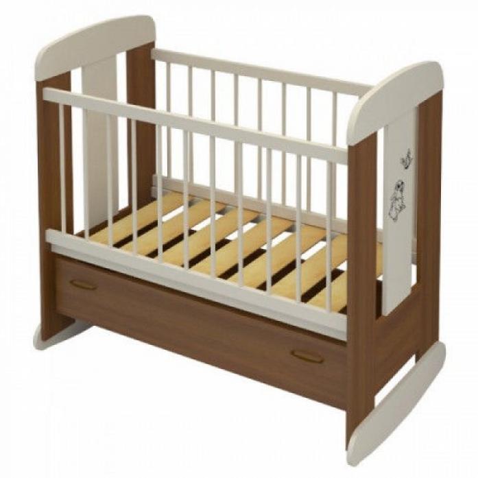 Кровать Алмаз-Мебель Зайка орех/ваниль