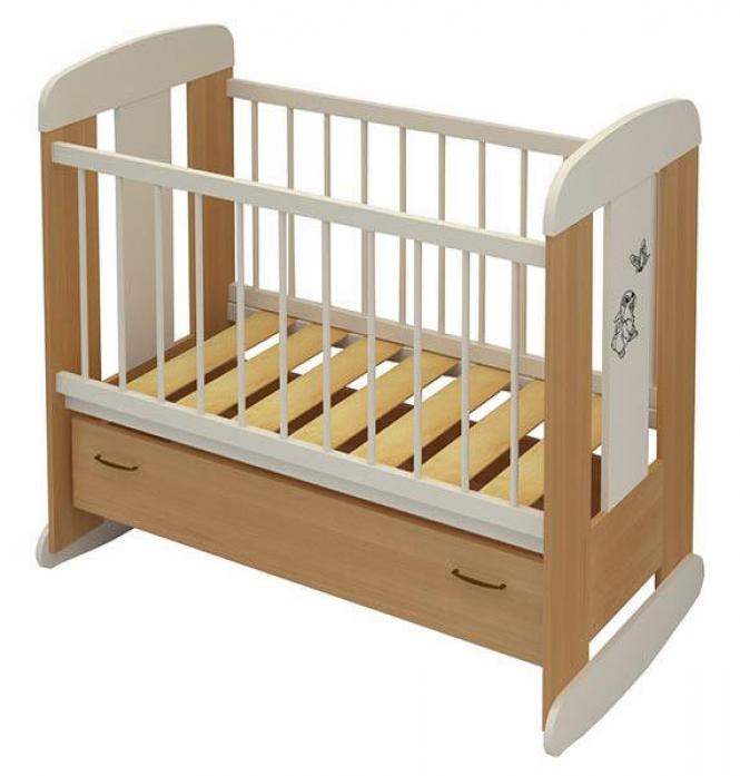 Кровать Алмаз-Мебель Зайка бук/ваниль
