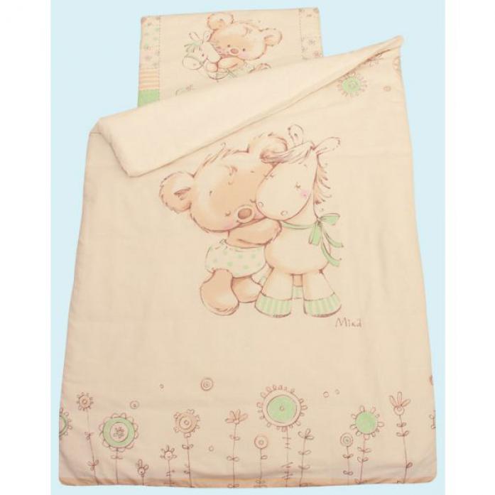 Комплект постельного белья Золотой Гусь Mika зеленый 7 предметов1104