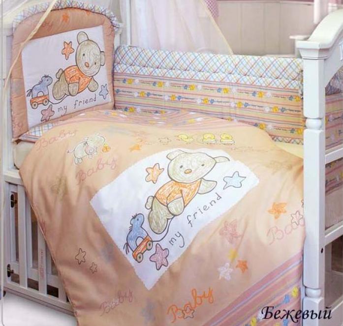 Комплект постельного белья Золотой Гусь Zoo Bear бежевый 7 предметов 1253