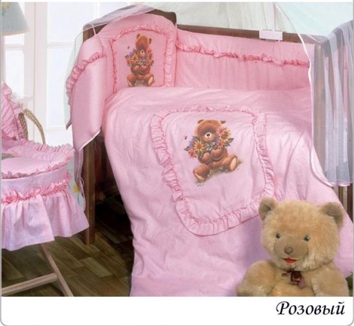 Комплект постельного белья Золотой Гусь Аленка розовый 7 предметов 1016
