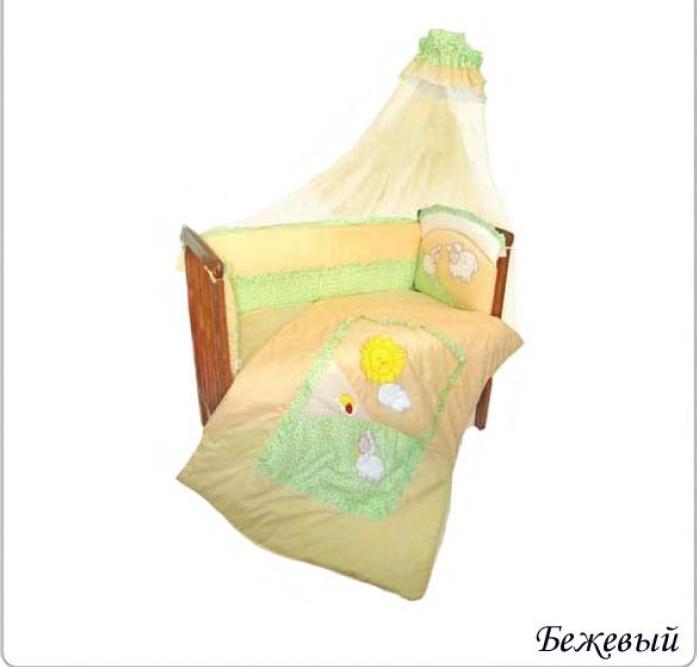 Комплект постельного белья Золотой Гусь Веселые овечки 7 предметов бежевый 1273