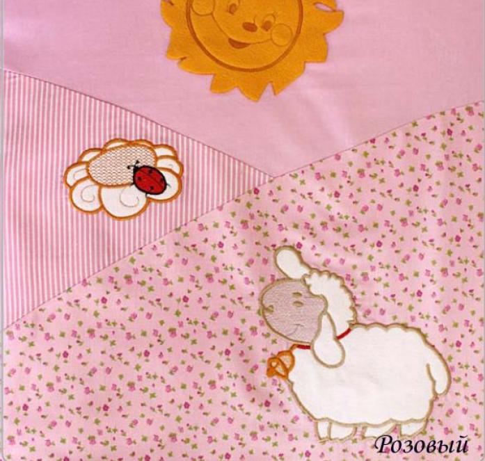 Комплект постельного белья Золотой Гусь Веселые овечки розовый 1276
