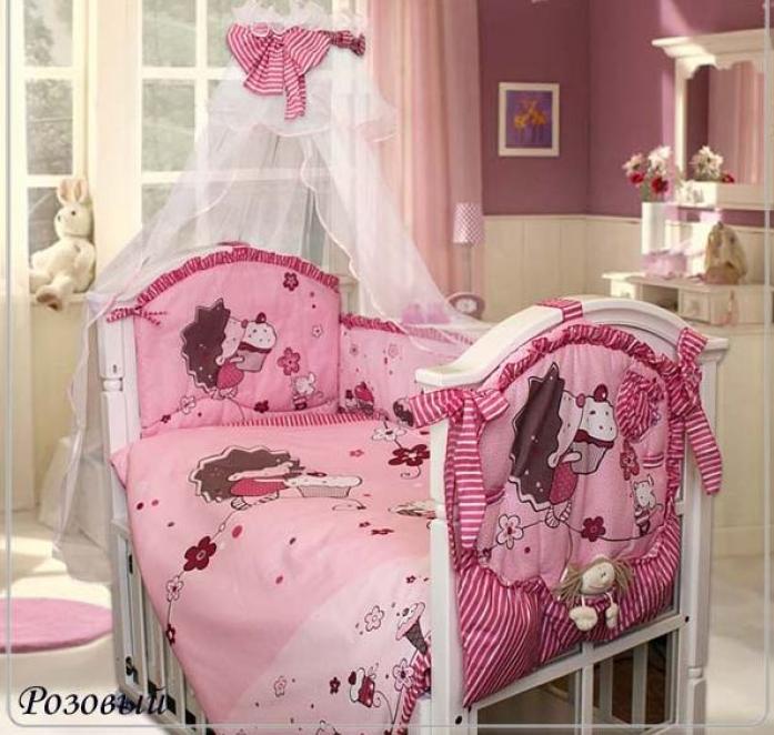 Комплект постельного белья Золотой Гусь Ежик Топа-Топ 8 предметов розовый 1286