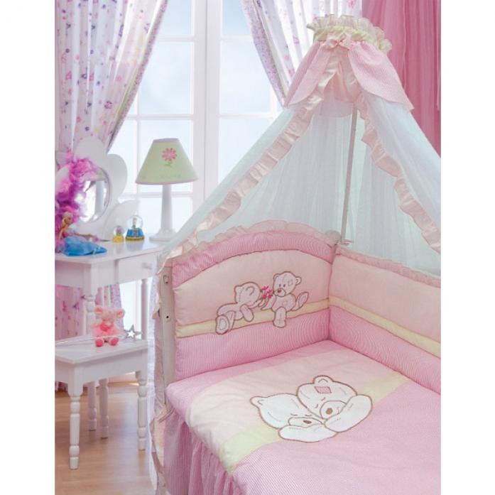 Комплект постельного белья Золотой Гусь Лапушки розовый 1616
