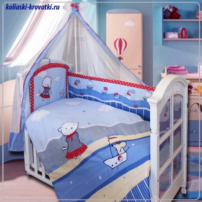 Комплект постельного белья Золотой Гусь Морские котята красный 7 предметов 1298