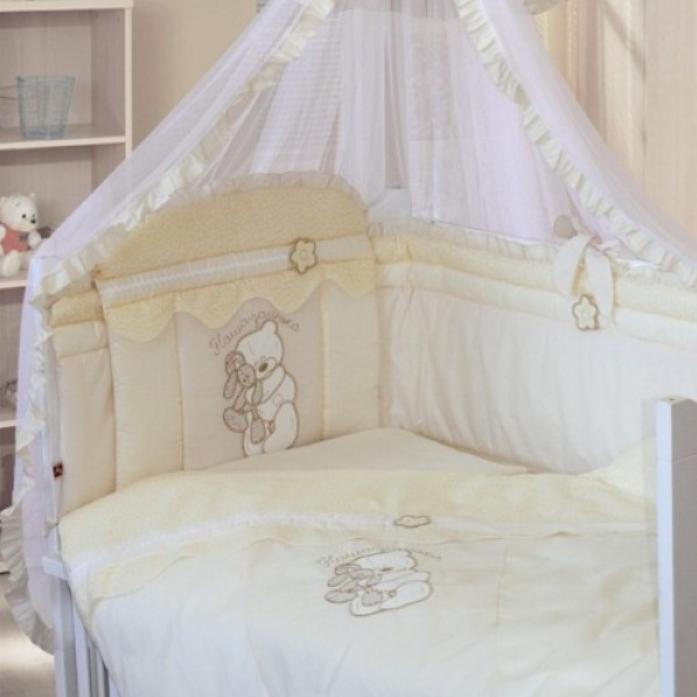Комплект постельного белья Золотой Гусь Сабина 7 предметов бежевый 1413