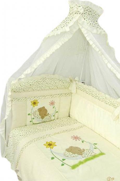 Комплект постельного белья Золотой Гусь Сладкий сон 7 предметов 1093 бежевый