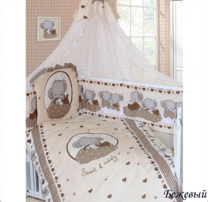Комплект постельного белья Золотой Гусь Слоник Боня 1913 бежевый