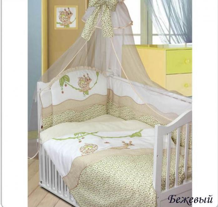 Комплект постельного белья Золотой Гусь Улыбка бежевый 1593