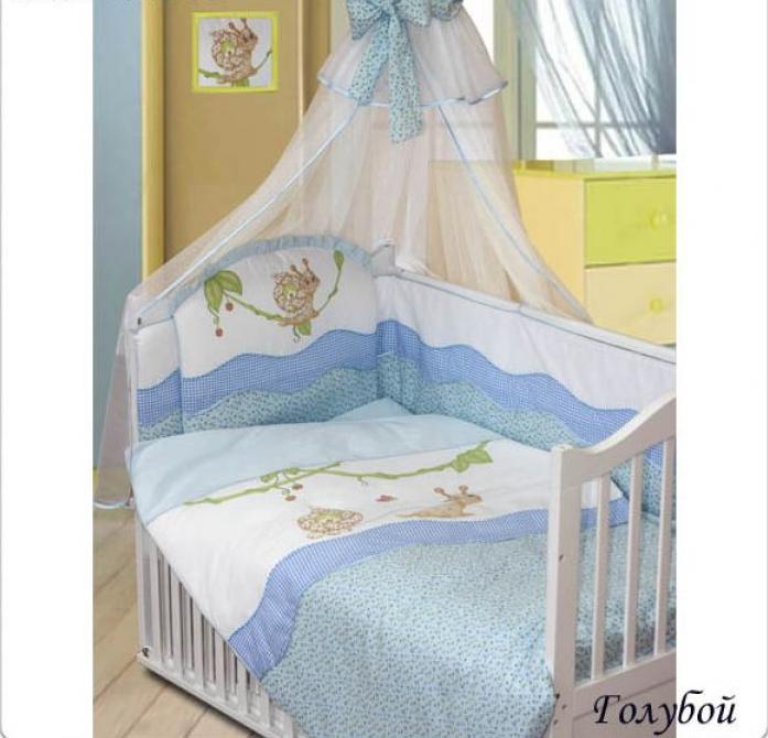Комплект постельного белья Золотой Гусь Улыбка голубой 1592