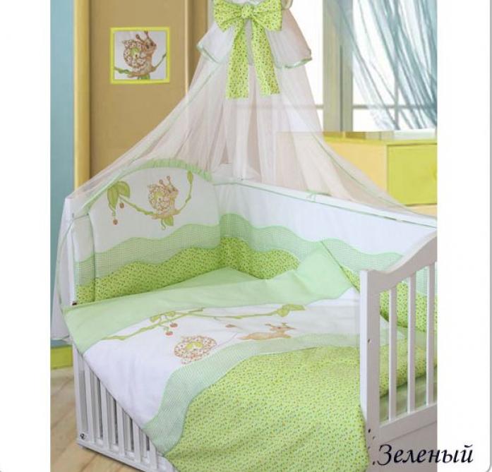 Комплект постельного белья Золотой Гусь Улыбка зеленый 1594
