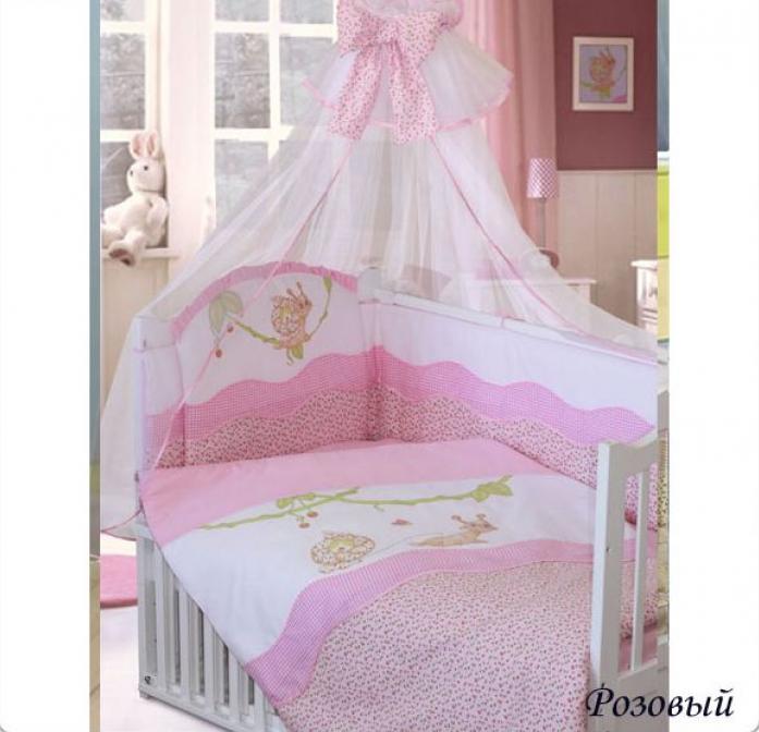 Комплект постельного белья Золотой Гусь Улыбка розовый 1596