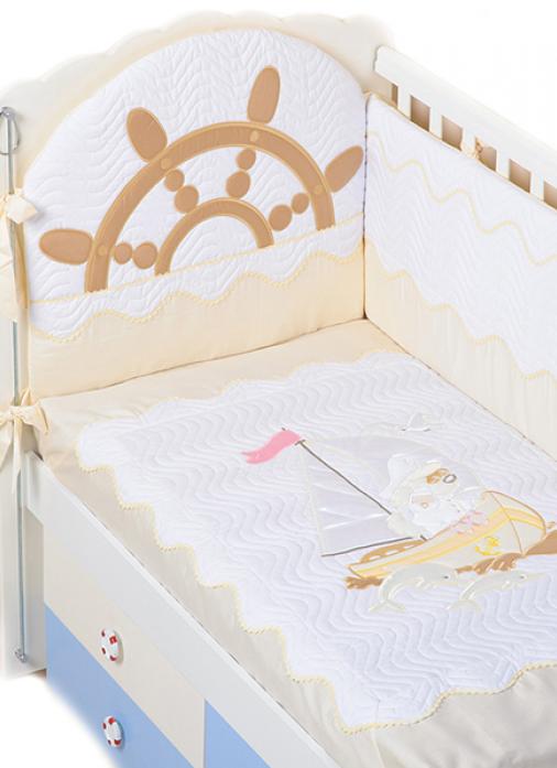 Комплект постельного белья Сдобина Морячок бежевый 82