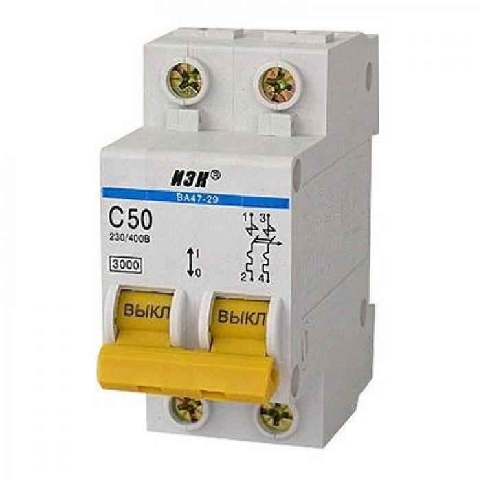 Автоматический выключатель ИЭК ВА47-29 2Р 16А 4,5кА х-ка С