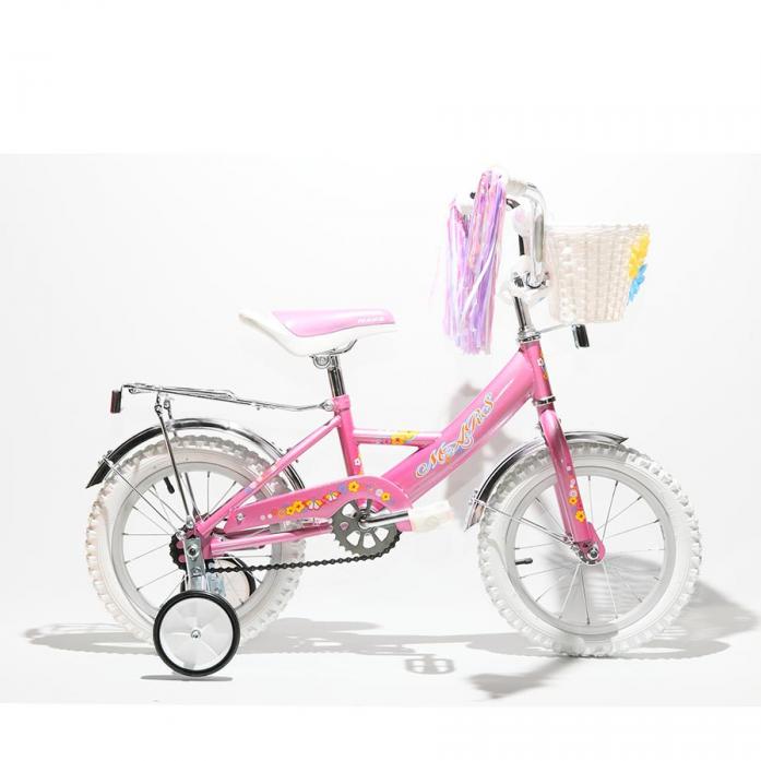"""Велосипед двухколесный Mars 12"""" Girl С1201 Pink с корзиной"""