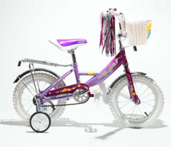 """Велосипед двухколесный Mars 12"""" Girl С1201 Violet с корзиной"""