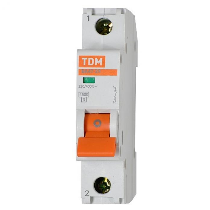 Автоматический выключатель TDM ВА47-29 1Р 16А 4,5кА х-ка С