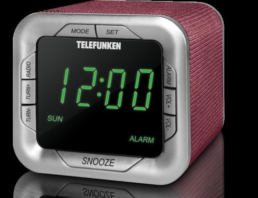 Радиоприемник с будильником Telefunken TF-1505 бордо/зеленый