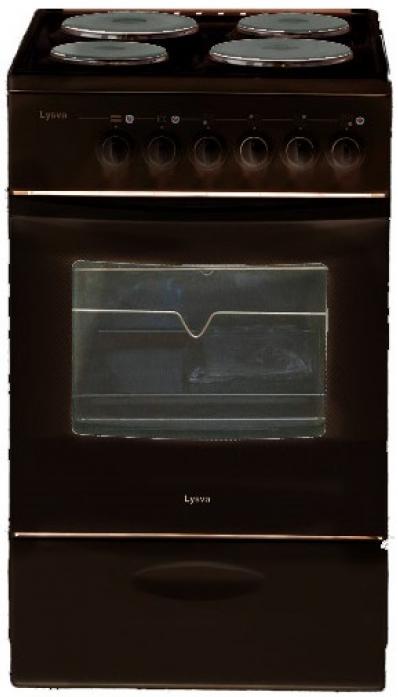 Электрическая плита Лысьва ЭП 403 МС коричневая, без крышки