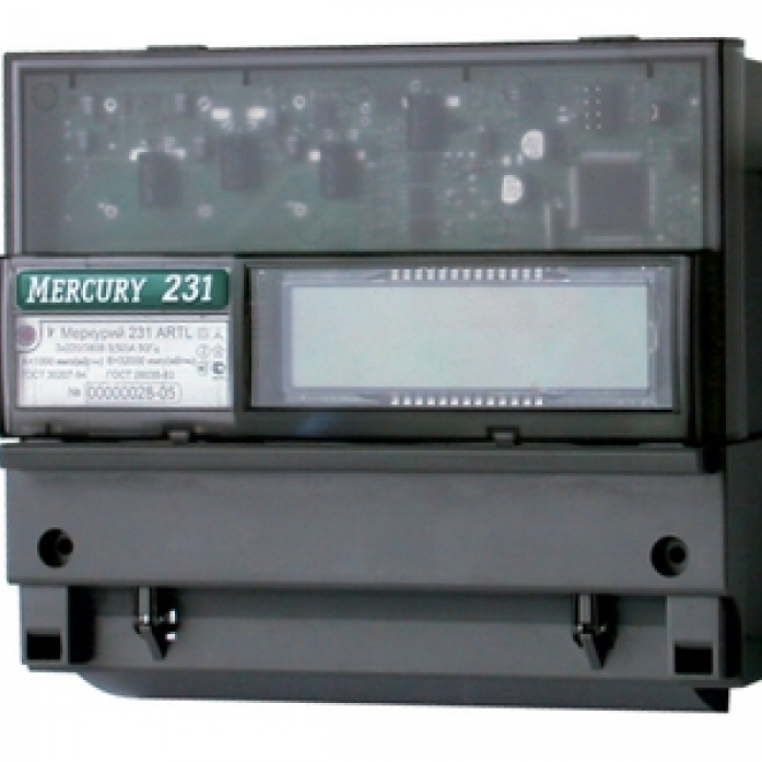 Счетчик электроэнергии МЕРКУРИЙ 231 АТ-01i 5(60)А 230-400в 3ф