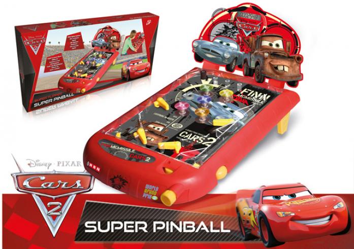Пинбол Imc Toys Cars2 на батарейках со звуком и светом 250314
