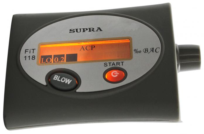 Персональный алкотестер Supra ATS-150 black