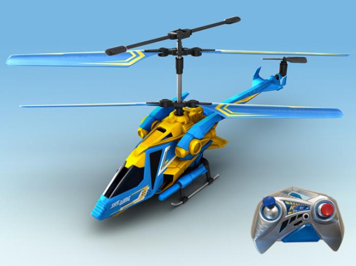 Вертолет Auldey SKY-WING с гироскопом с военной ракетной установкой 28см 3канала YW858522-F