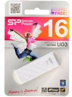 Флэш-диск Silicon Power Ultima U03 16GB USB 2.0 (SP016GBUF2U03V1W) Белый