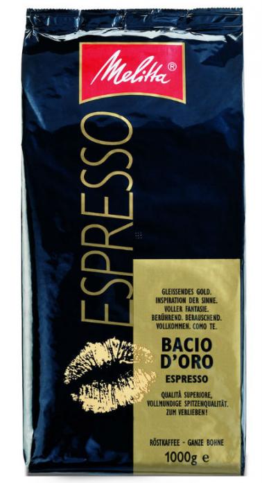 Кофе Melitta в зернах Espresso Bacio DOro, 1кг (864)