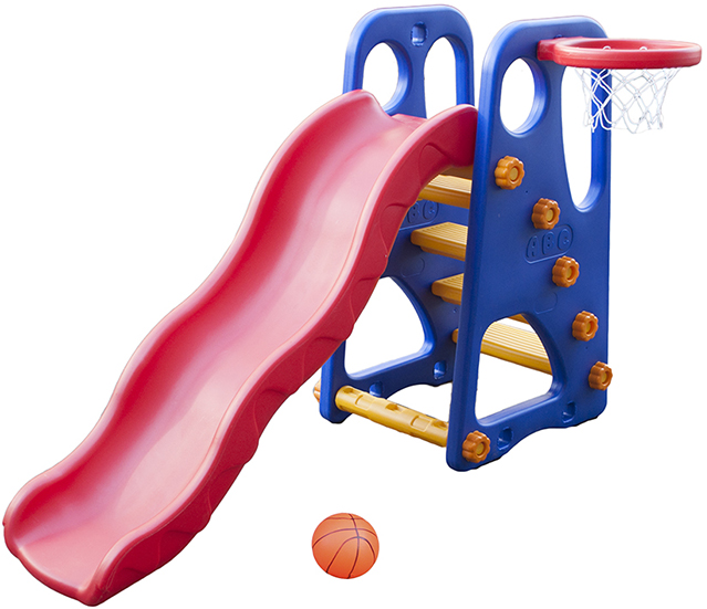 Горка QiaoQiao ДРУЖОК + баскетбольное кольцо QQ12066-3