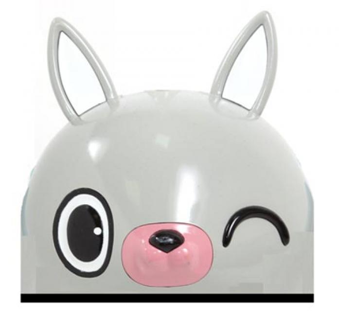 Шлем Rexco 3D ЗАЙКА БАННИ серый HPG020