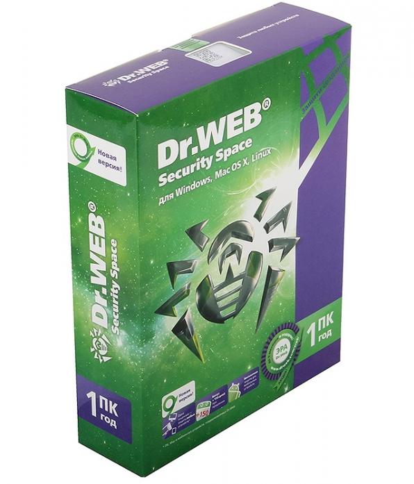Программное обеспечение Dr. Web Security Space (PRO) 1 ПК на 1 год (BHW-B-12M-1-A3)