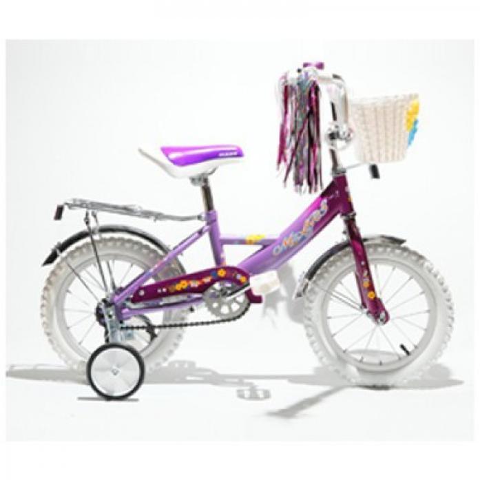 """Велосипед двухколесный Mars 14"""" Girl С1401 Violet с ручкой"""