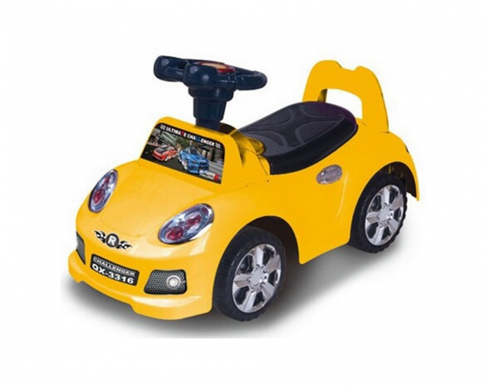 Каталка Toysmax SPORT CAR-2 желтая 3316