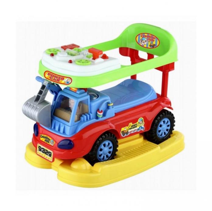 Каталка Toysmax ЭКСКАВАТОР 3в1 красный 9329