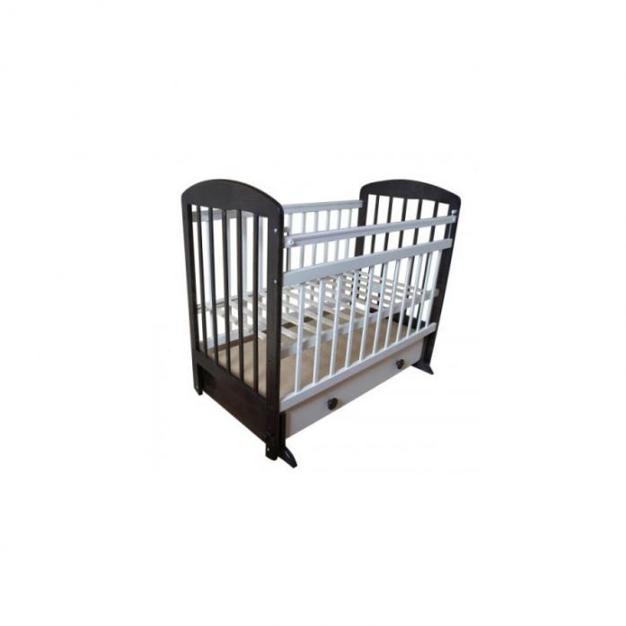 Кровать Ивашка Мой малыш 8 слоновая кость/венге