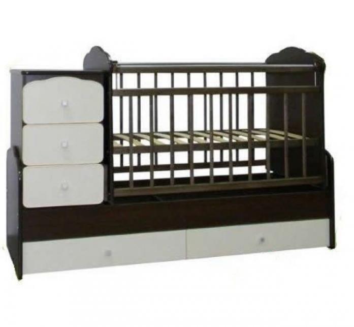 Кровать-трансформер СКВ СКВ-9 Птички 941038-1 венге/белый