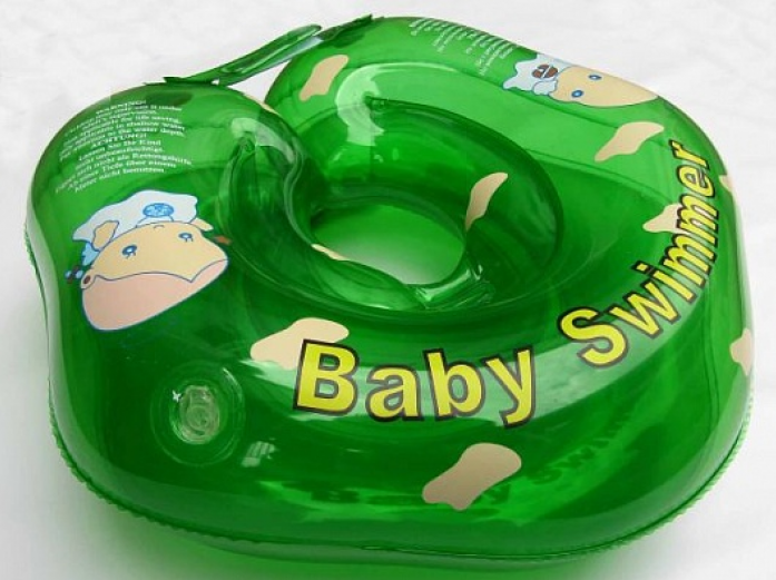 Круг BabySwimmer 3-12кг Зеленый полноцветный BS21G